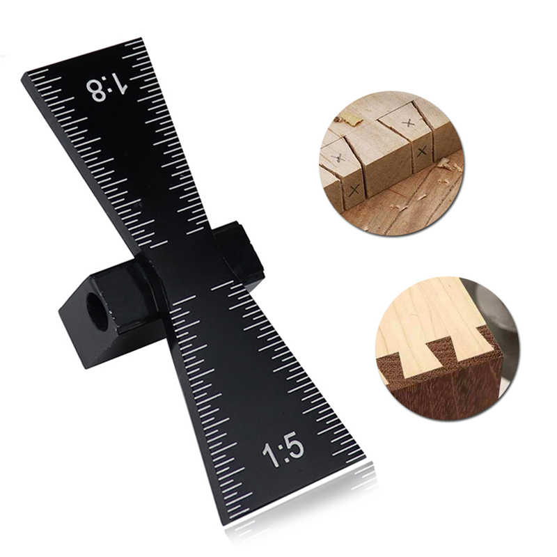 2 in 1 Woodworking Marker Dovetail Template Jig Marking Mortise Gauge Scribe