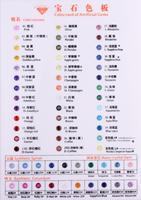 1pc/lot Synthetic Loose Cubic Zirconia Stone Color Chart Corundum Stone Nano Stone Color Card