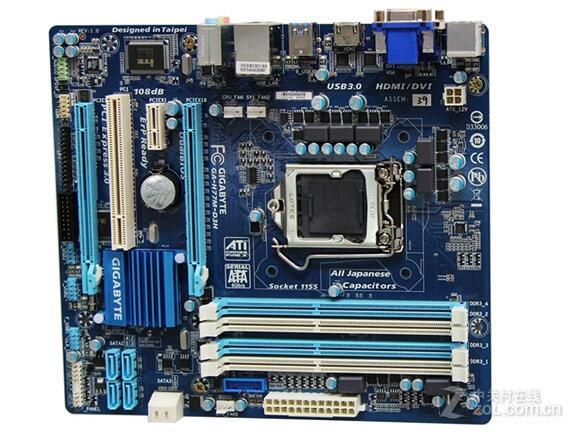 Gigabyte 1155 pin H77 Gigabyte GA-H77M-D3H Deluxe board supports USB3 SATA3 цена