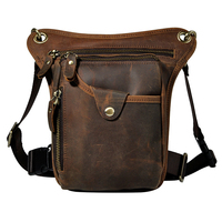 Men And Women100 Cowhide Genuine Leather Casual Vintage Waist Bag Small Crossbody Travel Shoulder Bag Cell