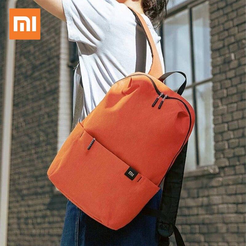 Original Xiao mi mi sac à dos coloré 8 couleurs 10L sac 165g poids petite taille épaule loisirs Sport poitrine Pack pour hommes femmes sac