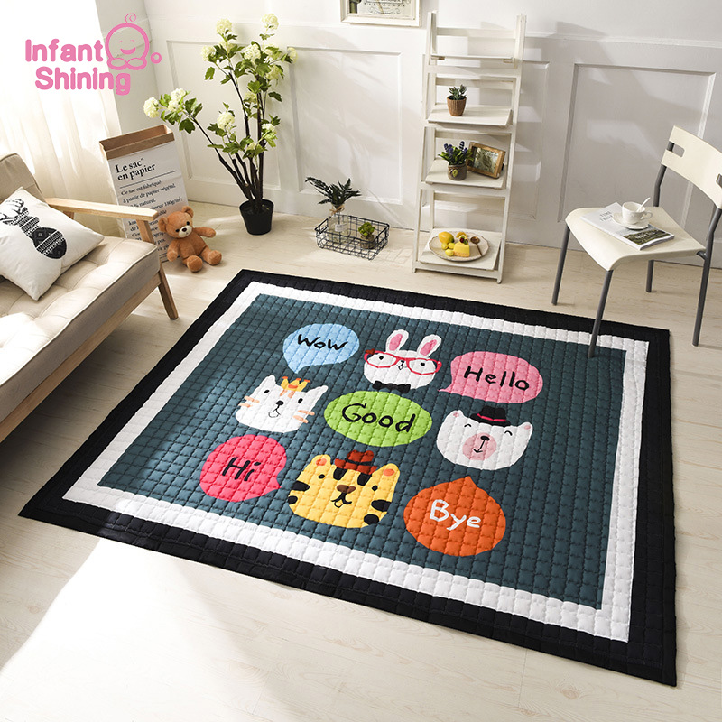 Infant Shining Baby Play Mats Kids Crawling Game Carpet Cartoon Anti skid Blanket 145X195CM Large Rugs
