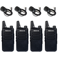 4 unids walkie talkie retevis rt22 + 4 altavoces uhf 400-480 mhz 2 W 16 CANALES CTCSS/DCS TOT VOX Scan Radio de Silenciamiento Comunicador A9121A