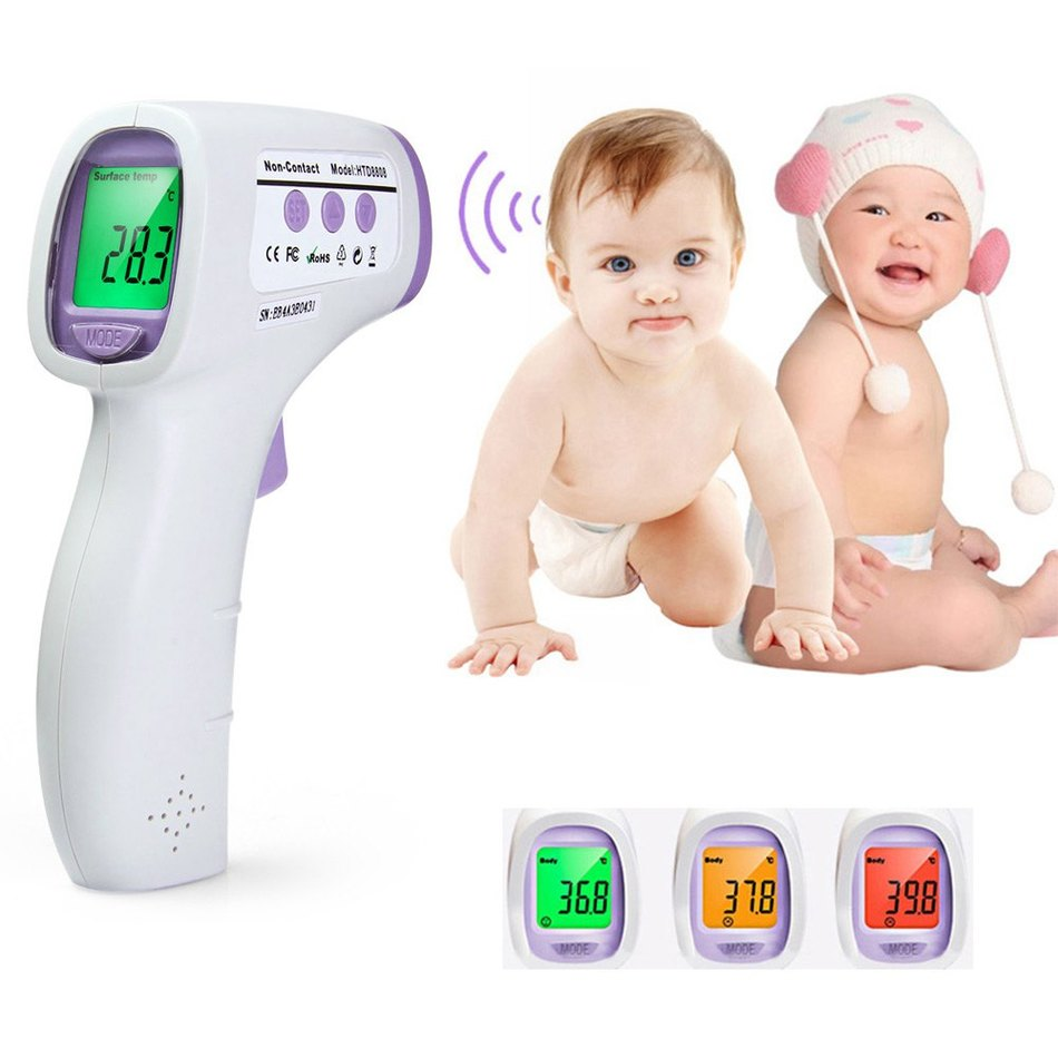 Bébé/Adulte Thermomètre Infrarouge Numérique Thermomètre Gun Sans Contact Température Mesure Dispositif Pour Enfants 3 Couleur Rétro-Éclairage