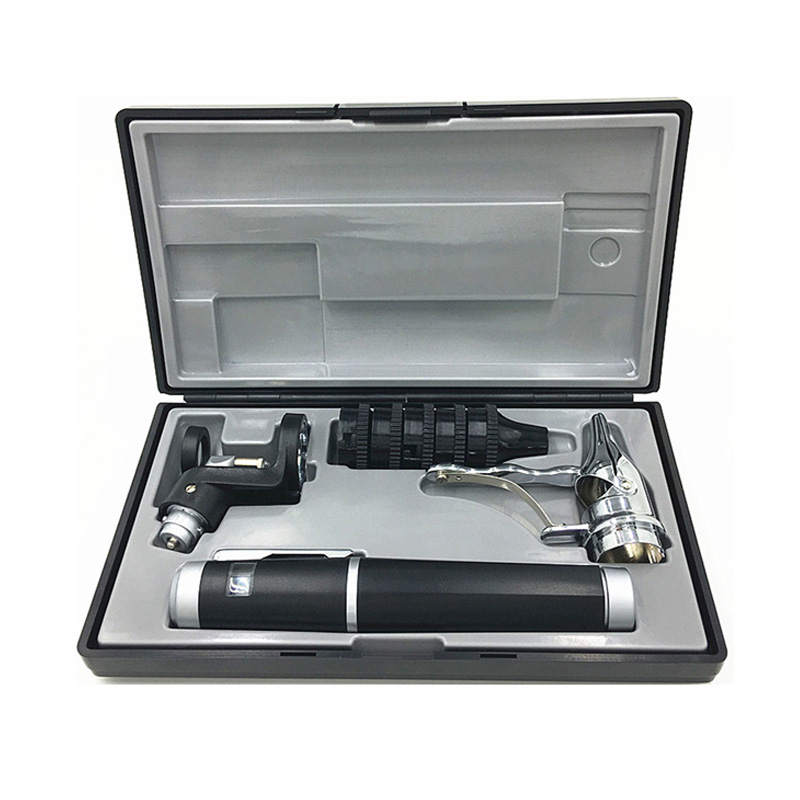 1 ensemble de mise à niveau Version améliorée ensemble de diagnostic ophtalmoscope Kit de diagnostic médical polyvalent Otoscope de soins auditifs directs