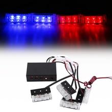 4×3 LED Mini Car Griglia Anteriore Luci Stroboscopiche Testa truck Auto Grille Deck Lampeggiante Di Emergenza avvertimento luci di Sicurezza lampada di segnalazione