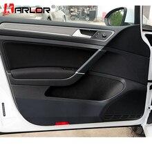4 шт./компл. внутренняя отделка двери углеродного волокна защитная пленка Стикеры и наклейки на авто-Стайлинг для VW Volkswagen Golf 7 MK7 аксессуары