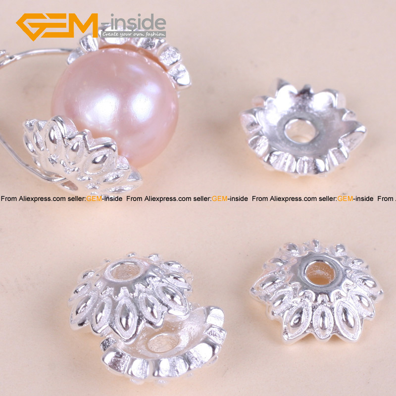 Tibetan Silver Flower Spacer 9mm Craft Beads Caps Component Jewelry Making Diy Bracelet Necklace 20 Pcs Free Shipping