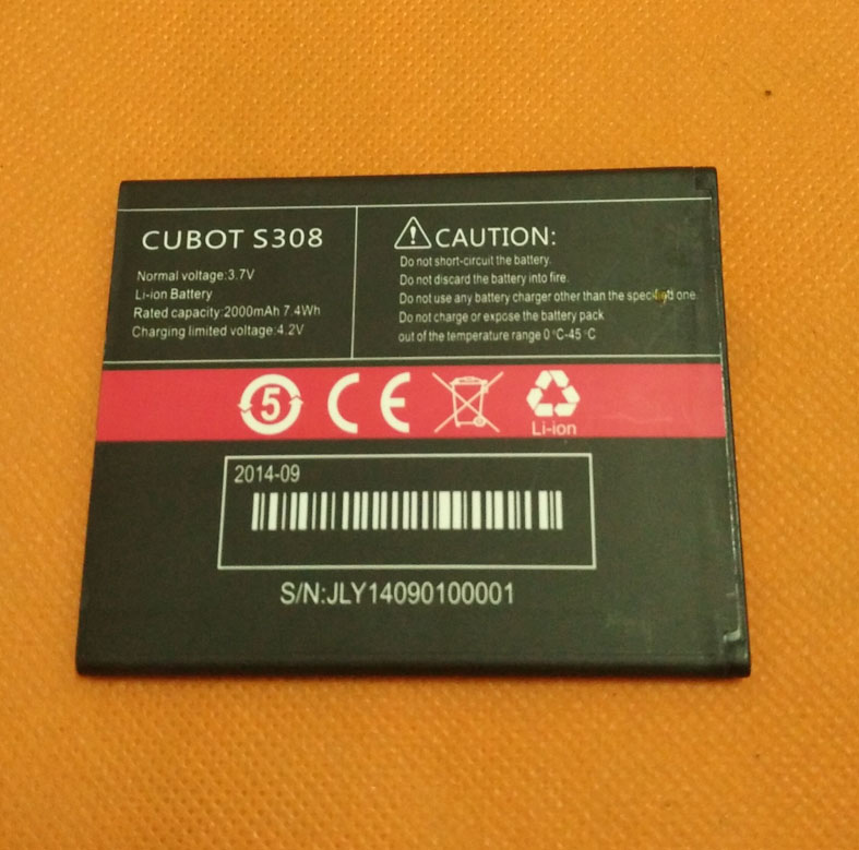 Used Original 2000mAh battery <font><b>Batterie</b></font> Batterij Bateria For <font><b>Cubot</b></font> <font><b>S308</b></font> 5.0