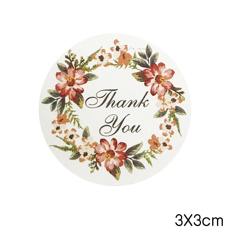 Thank You For Wedding Gift: 100 Pcs THANK YOU Flower Design Sticker Gift Stickers For