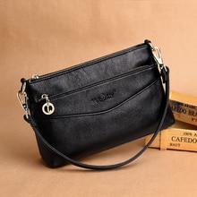 2019 Luxury Message Bags Pockets Vintage Genuine Leather Bag Female Small Women Handbags Bags For Women Shoulder Crossbody Bag