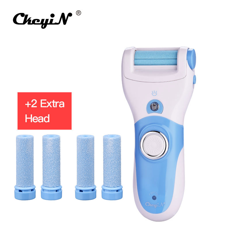 CkeyiN Rechargeable Foot Care Tool+4 Roller Electric Pedicure Peeling Dead Skin Removal Feet Care Machine Personal Feet Care 40