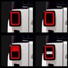 Conjuntos traseiros da lâmpada das luzes traseiras para jeep wrangler jk 2 & 4 porta 2007 2017 ponto e9 eua/edição da ue reverser freio sinal de volta led