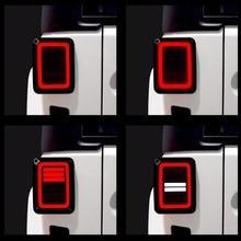 أضواء خلفية مصباح الجمعيات الخلفية ل جيب رانجلر JK 2 و 4 باب 2007 2017 DOT E9 USA/الاتحاد الأوروبي طبعة عكس الفرامل بدوره إشارة LED