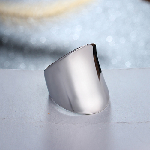 Lasoonary wedding bands fashion anello in acciaio in brillante colore sia per uomo e donna di Bellezza e gioielli
