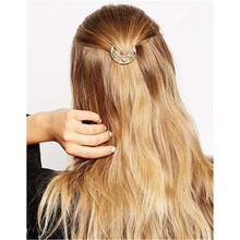 Metal Ponytail Holder with Moon designed Hairclips women hair accessories for a half-up hairstyle e-coating(China)