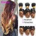 Brazilian Virgin Hair Ombre Loose Wave 3 Bundles 7A Wet And Wavy Ombre Loose Wave Bundles T1B/27 Two Tone Brazilian Hair Bundles