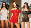 Sexy Lingerie Lace Sleepwear Sexy Tight temptation perspective pajamas underwear with T pants Women Erotic Lingerie Dress