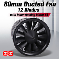 FMS 80mm Ducted Fan EDF Unit 12 blade With 3270 KV2000 Motor (optional) 6S Version For RC Airplane Model Plane Jet Spare Parts