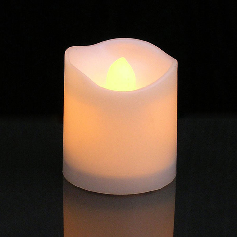 12pcs Flameless LED Candle Flicker Light Lamp Decoration Electric Battery-powered Candles Yellow Tea Light Party Wedding Candle 3