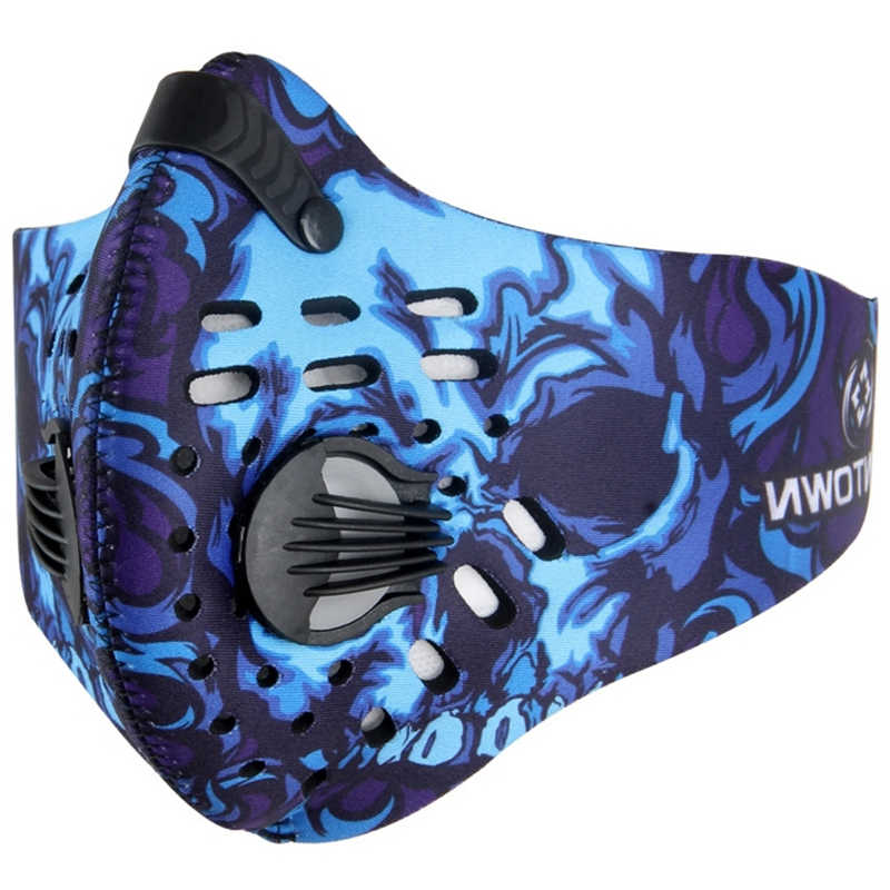 2954d31746e Dual Valve Riding Pro Cycling Masks camouflage Breathable Windproof Bicycle  Face Mask Activated Carbon PM 2.5