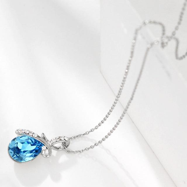 Neoglory Austrian Crystal Rhinestone Brand Charm Necklaces & Pendants Fashion Jewelry Birthday Gifts  2017 New JS11 B1