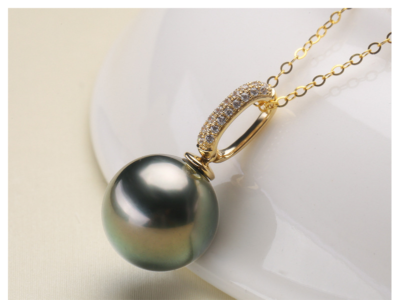 Sea Water Pearl Zircon Pendant No Necklace 9mm Exquisite Shine Jewelry Lady Wedding Birthday Valentine's Day Gift стаканчик sea shine