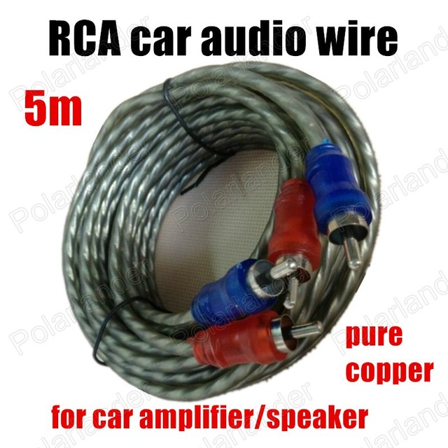 from green amp to speaker wire wiring diagrams \u2022 diagram of computer i o ports big promotion pure copper 1pcs 5m rca to rca audio cable power cable rh aliexpress com