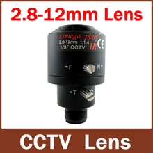 "New Arrival 3.0Megpixel  3MP 1/3"" 2.8mm-12mm MTV Manual Zoom Manual Focal Surceillance CCTV Lens"