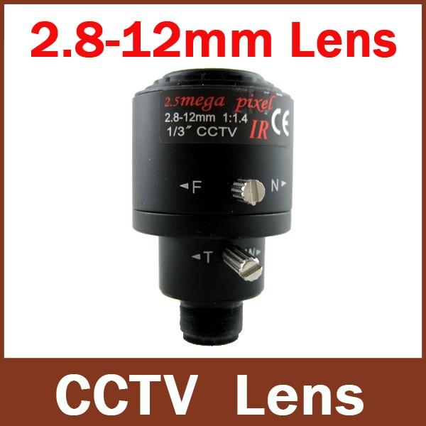 Nouvelle Arrivée 3.0 Megpixel 3MP 1/3 ''2.8mm-12mm MTV Zoom Manuel Manuel Focale Surceillance Objectif CCTV