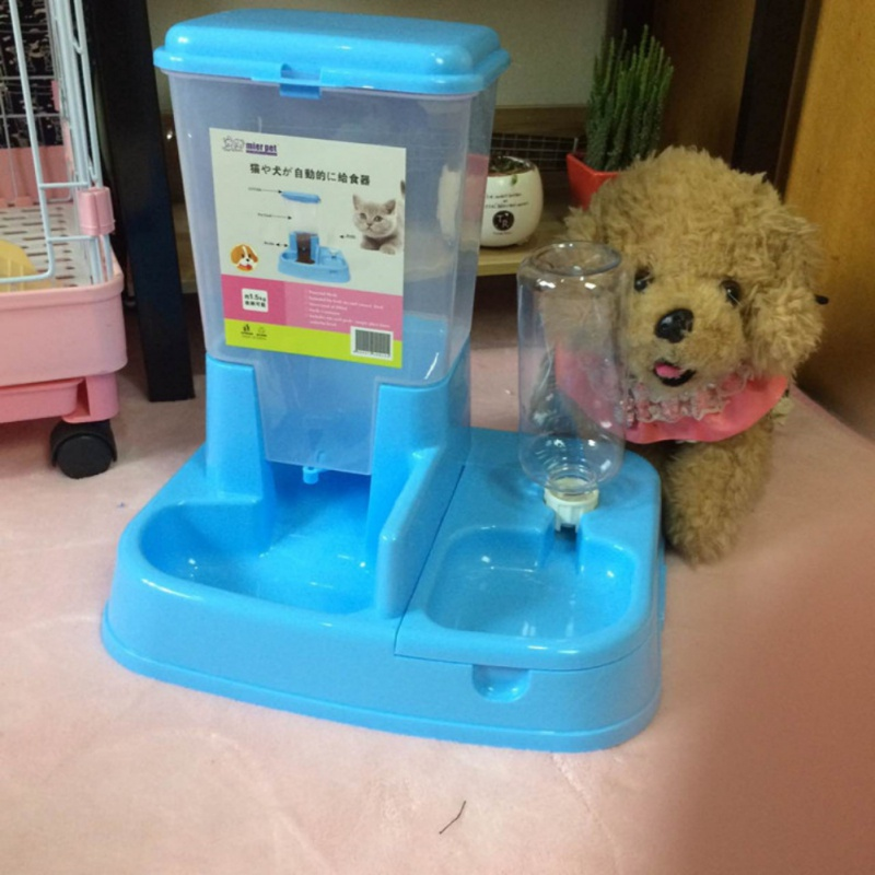 hot sale free shiping Automatic Pet Feeder Environment Friendly Dog Cat Food Water two in one