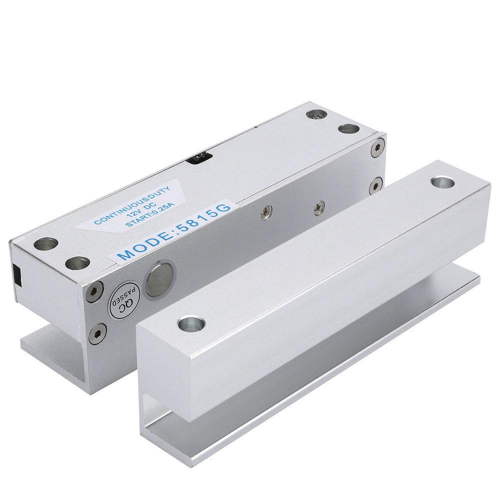 12 V Dc 1.2a Rfid Elektroriegelschloss Rahmenlose Glastür Nc 5 Kabel Zugangskontrolle