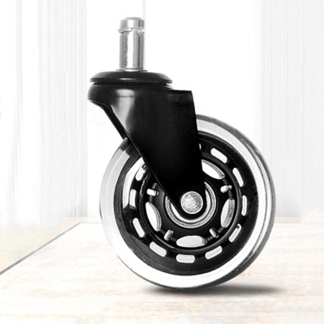 Negro + transparente 3 pulgadas ruedas de rotación rueda repuesto silla  oficina rodillo giratorio transporte alta calidad