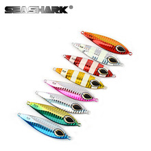 Slow Jig Lead Fish Lure 40g Metal Jigs 7CM Slow Jigging Lures 8 Color 1pcs/lot Salt Water Fishing Lures