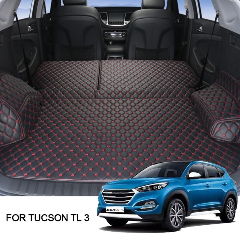Cargo Liner For Hyundai Tucson 2019 2018 2017 TL 3 Car Floor Trunk Carpet Rugs Mats