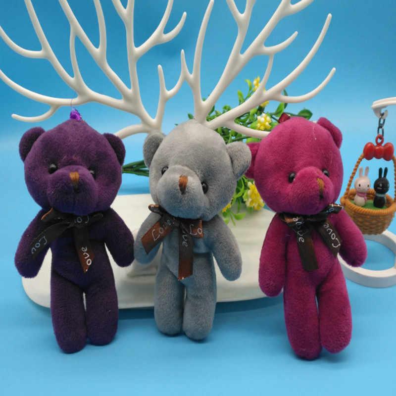 Moda 12 CENTÍMETROS Urso de Pelúcia Boneca de Brinquedo de Pelúcia Saco de Mulher do Anel Chave de Cadeia Encantos Do Falso Pele De Coelho Pom Pom Keychain chaveiro Bugiganga Casamento
