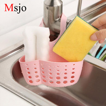 Msjo Sink Sponge Hanging Drain Holder Plastic Snap Adjustable Kitchen Suction Cup Sink Shelf Soap Sponge Drain Rack