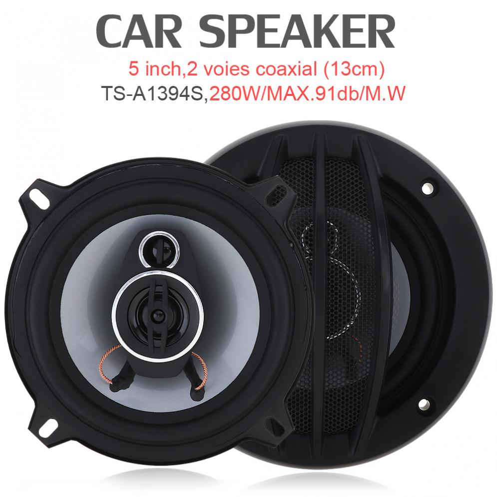 2018 Best 5 Inch 280W speaker Car HiFi Coaxial Speaker Vehicle motorcycle radio auto sound speakers for car stereo drop shipping
