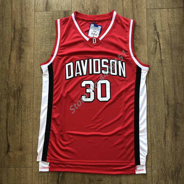 new concept 21737 f5db7 US $26.25 25% OFF|2019 New #30 Stephen Curry Davidson Wildcat College  Basketball Jersey Stitched S 2XL-in Basketball Jerseys from Sports & ...