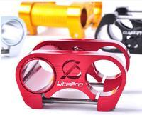 Litepro CNC Alumínio Bicicleta Dobrável Guiador Riser De Guidão Riser De Bicicleta BMX Dupla Haste 25.4mm