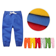 Autumn Winter Baby Boys Girls Pants Cotton Casual Long Trousers Kids Clothing Harem Pants Elastic Waist Jogger Pant недорого