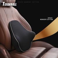 New Universal Memory Foam Pillow Lumbar Cushion For Car/Truck/Office Home Chair Auto Back Waist Support Travel Cushions
