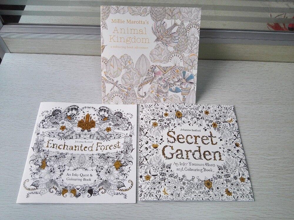 Jardín Secreto Libro Para Colorear Bosque Encantado de alta ...
