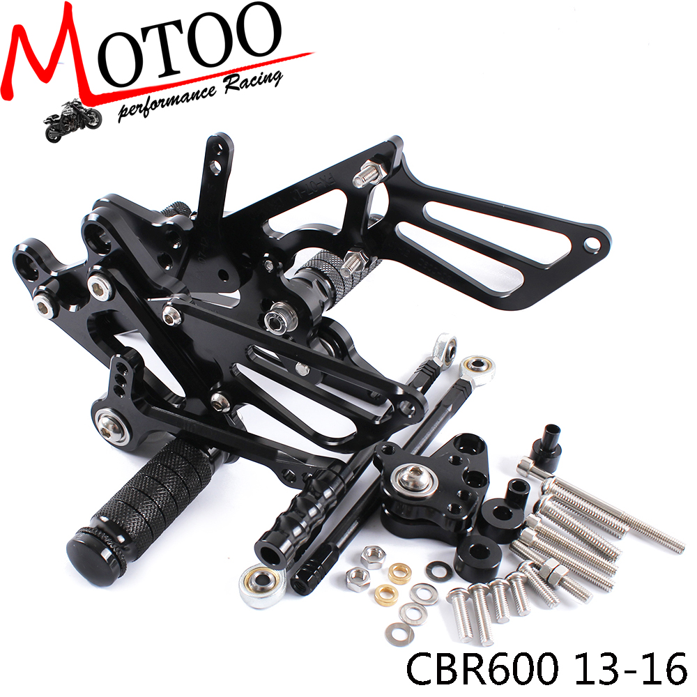 Full CNC Aluminum Motorcycle Adjustable Rearsets Rear Sets Foot Pegs For HONDA CBR600RR NON-ABS 2013 2014 2015 2016