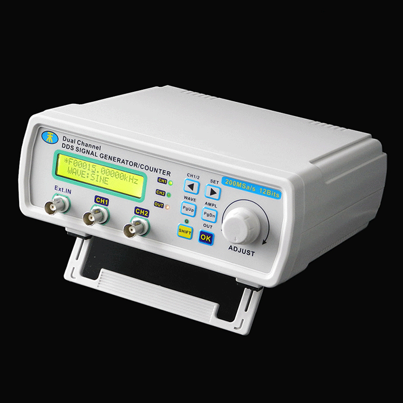 Mini Signal Generator DDS Function generator Digital Dual-channel Arbitrary sine Waveform Frequency generator 200MSas 25MHz rigol dg1022u 25mhz arbitrary waveform frequency meter function generator with usb signal generator