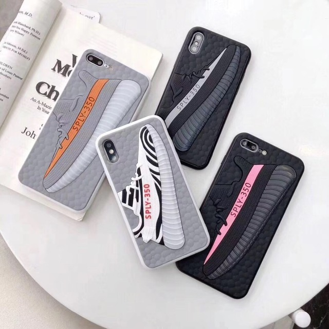 Fashion US Street 3D boost Yezzys Sply 350 Back Shoes Cover Case For iPhone XS XR MAX Phone Cases For iPhone X 10 7 8 6S 6 Plus