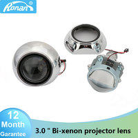 RONAN Car Styling 3.0HID Metal Headlight Projector Lens use Xenon Lamps H1 with H4 H7 adapter For VW Ford nissan mazda honda