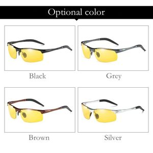 Image 5 - Okulary przeciwsłoneczne fotochromowe polaryzacyjne męskie pół rimless okulary przeciwsłoneczne mężczyźni jazda sport gogle Chameleon zmień kolor odcień 2019