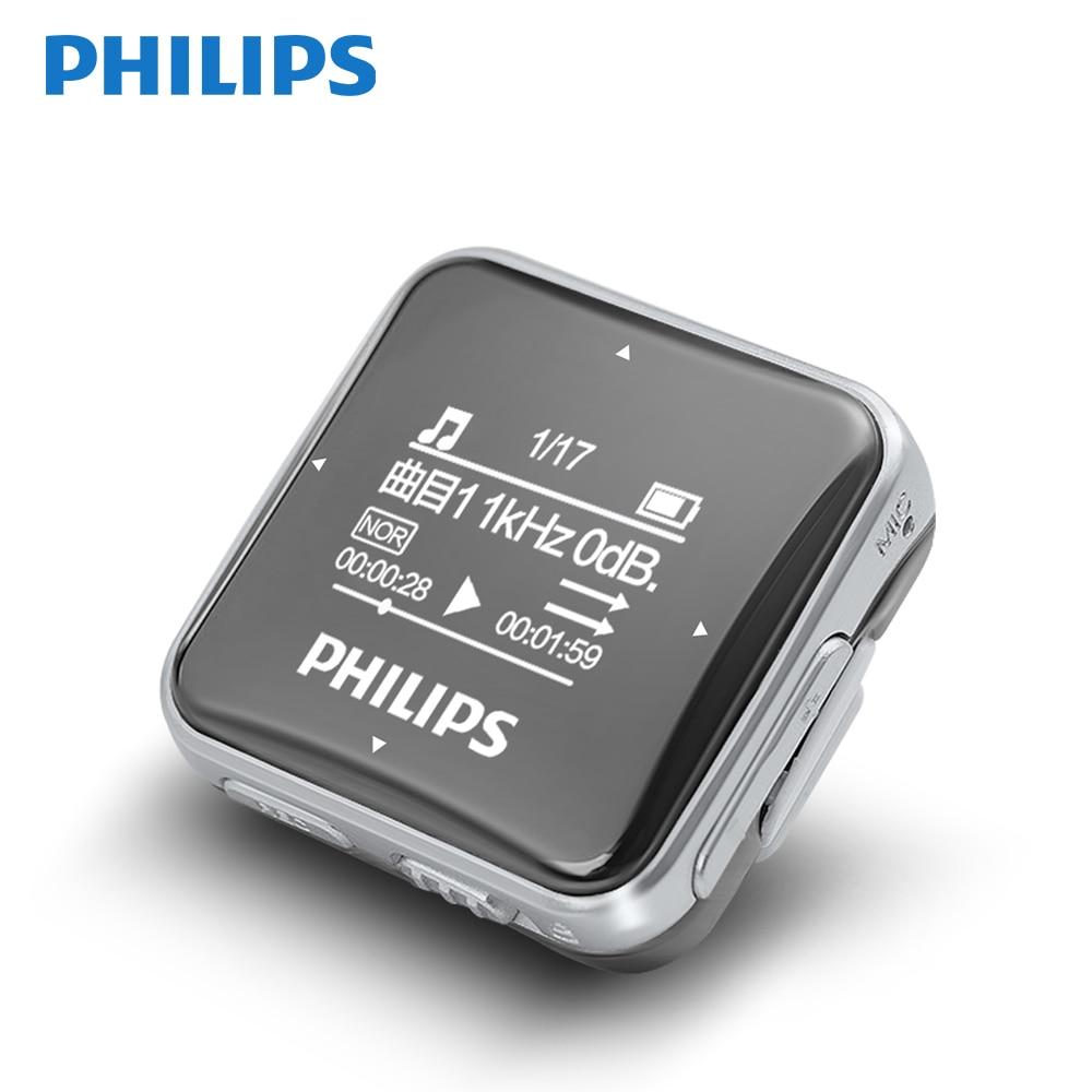 Philips Original Mini lecteur MP3 Sport grand écran avec fonction d'enregistrement/FM Radio écouteur courant arrière Clip musique SA2208