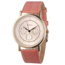 Ladies Wood Leather Analog Quartz Wrist Watch